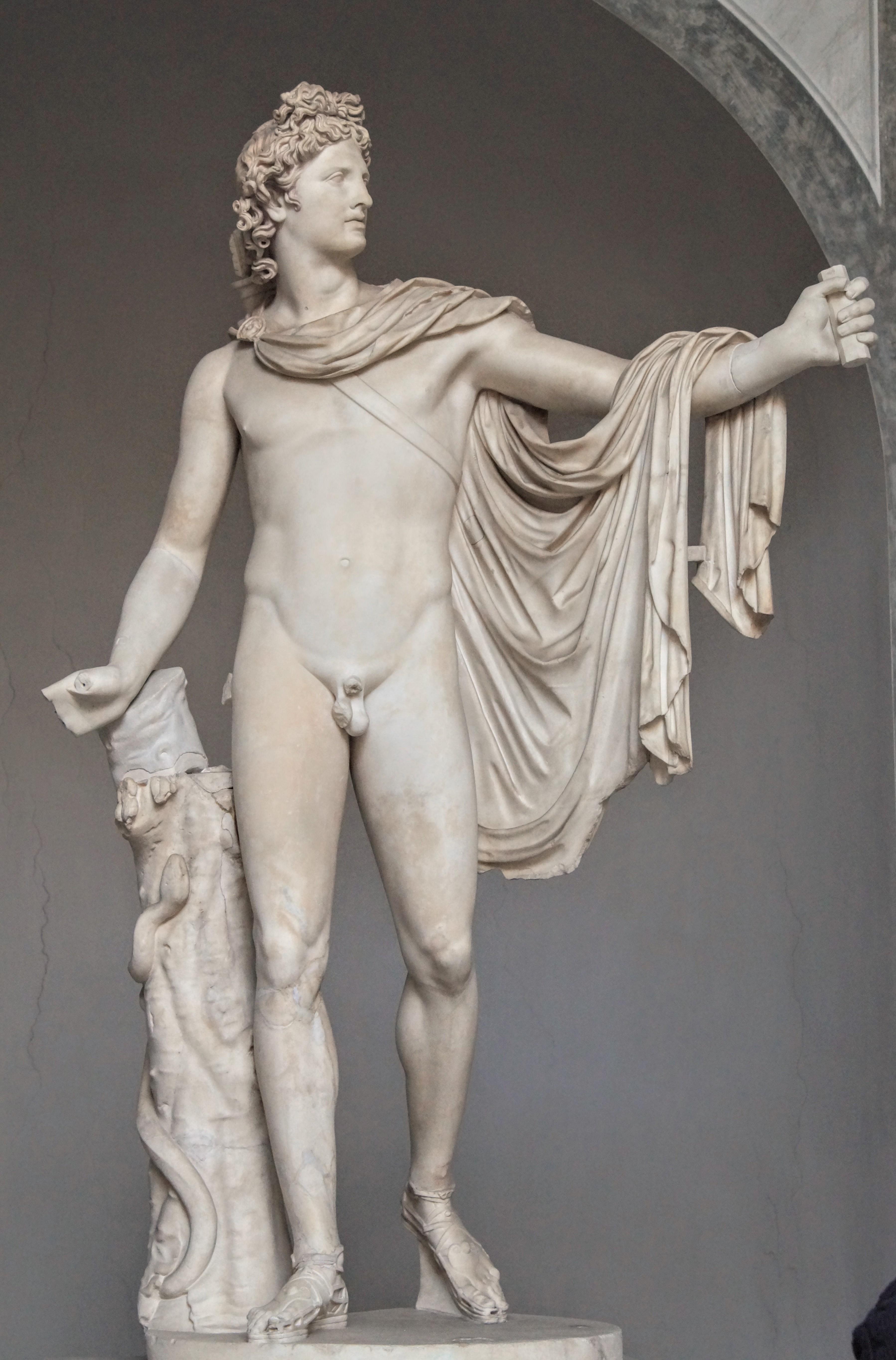 Ο Απόλλωνας του Μπελβεντέρε στην Αυλή του Μπελβεντέρε ( Φωρογραφία Νίκος Πράσσος )