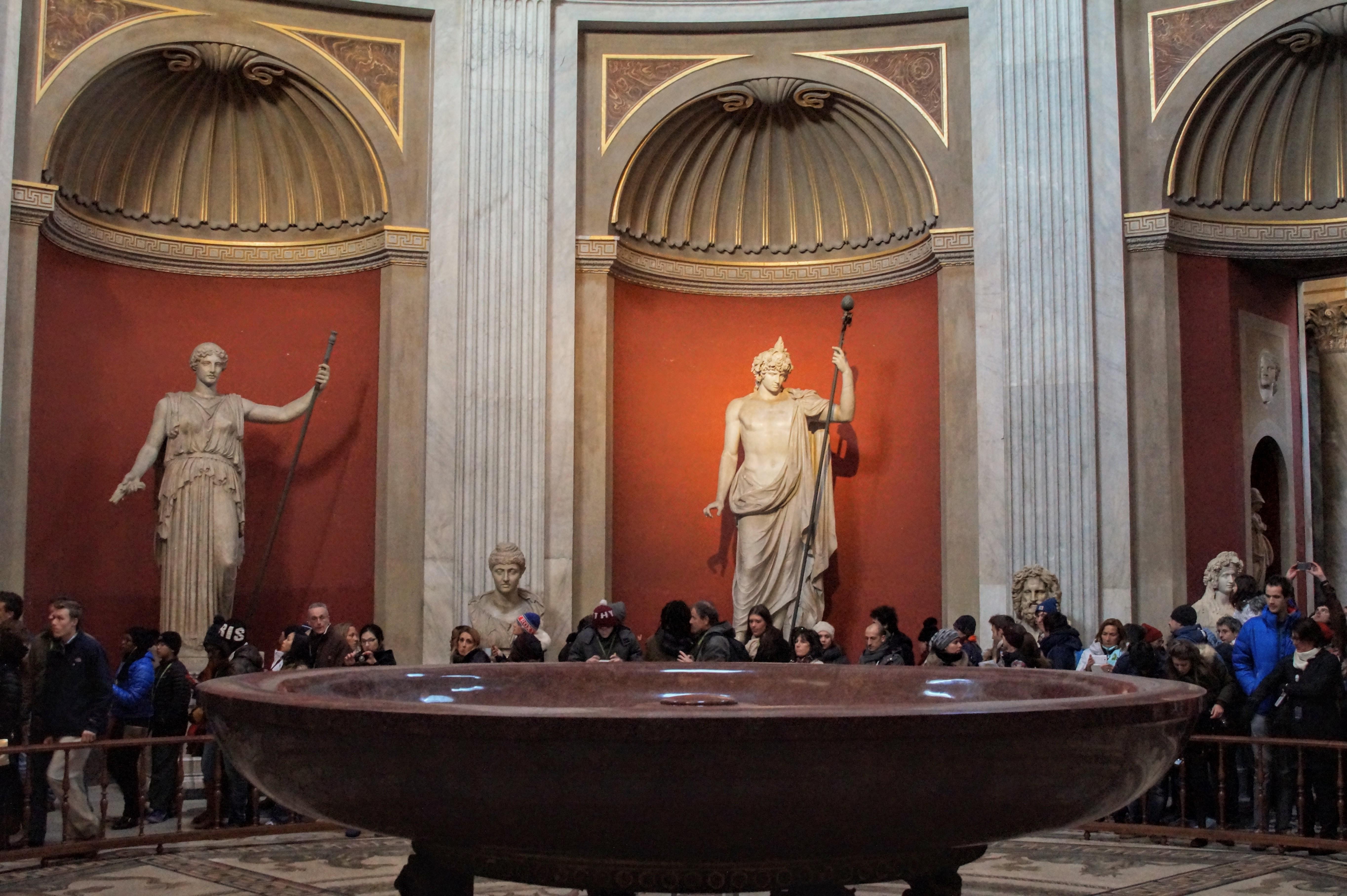 Η Sala Rotonda στα Μουσεία του Βατικανού (Φωτογραφία Νίκος Πράσσος)