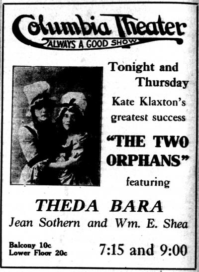 The Two Orphans - 1915