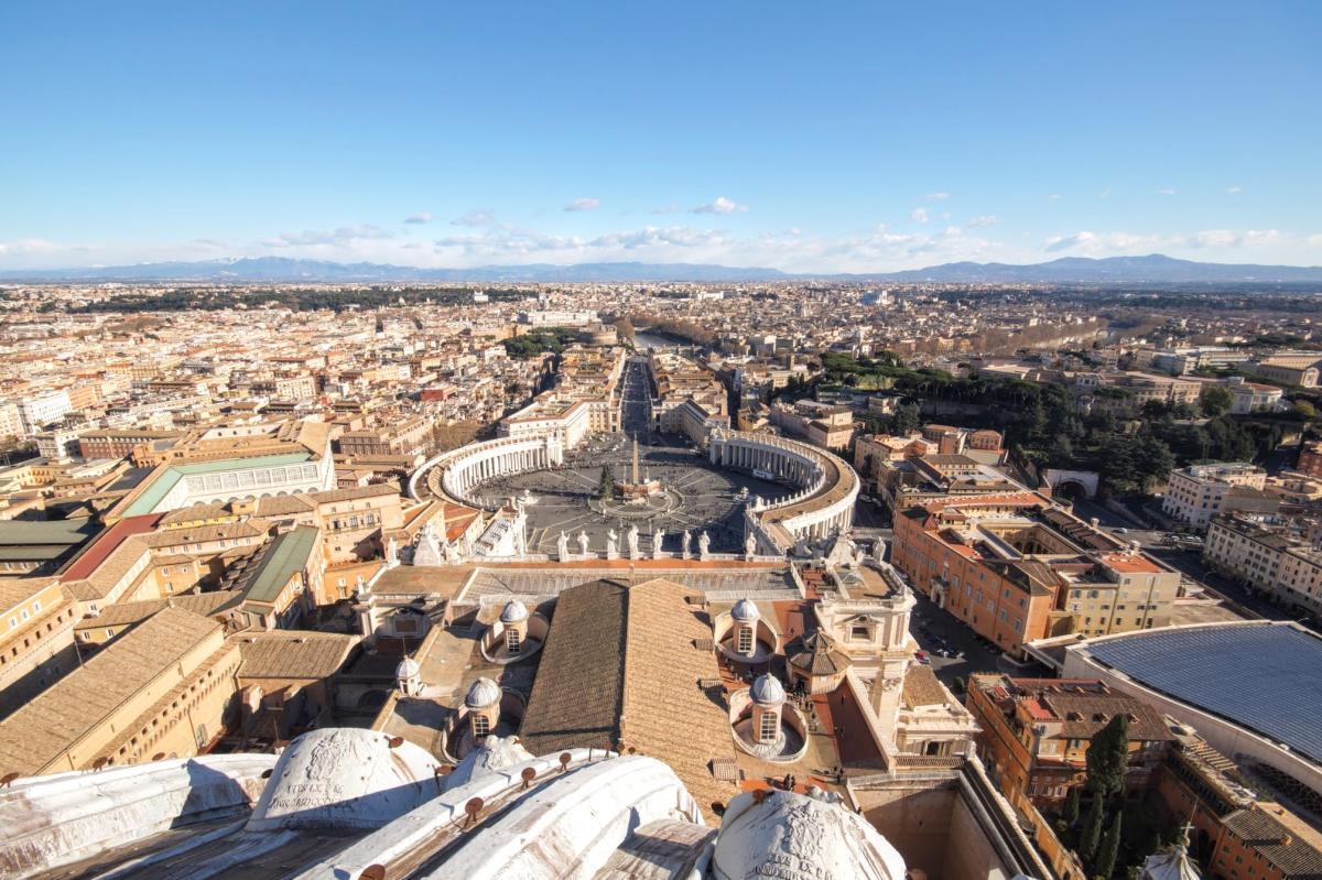 Βατικανό πλατεία Αγίου Πέτρου από ψηλά (Φωτογραφία Νίκος Πράσσος)